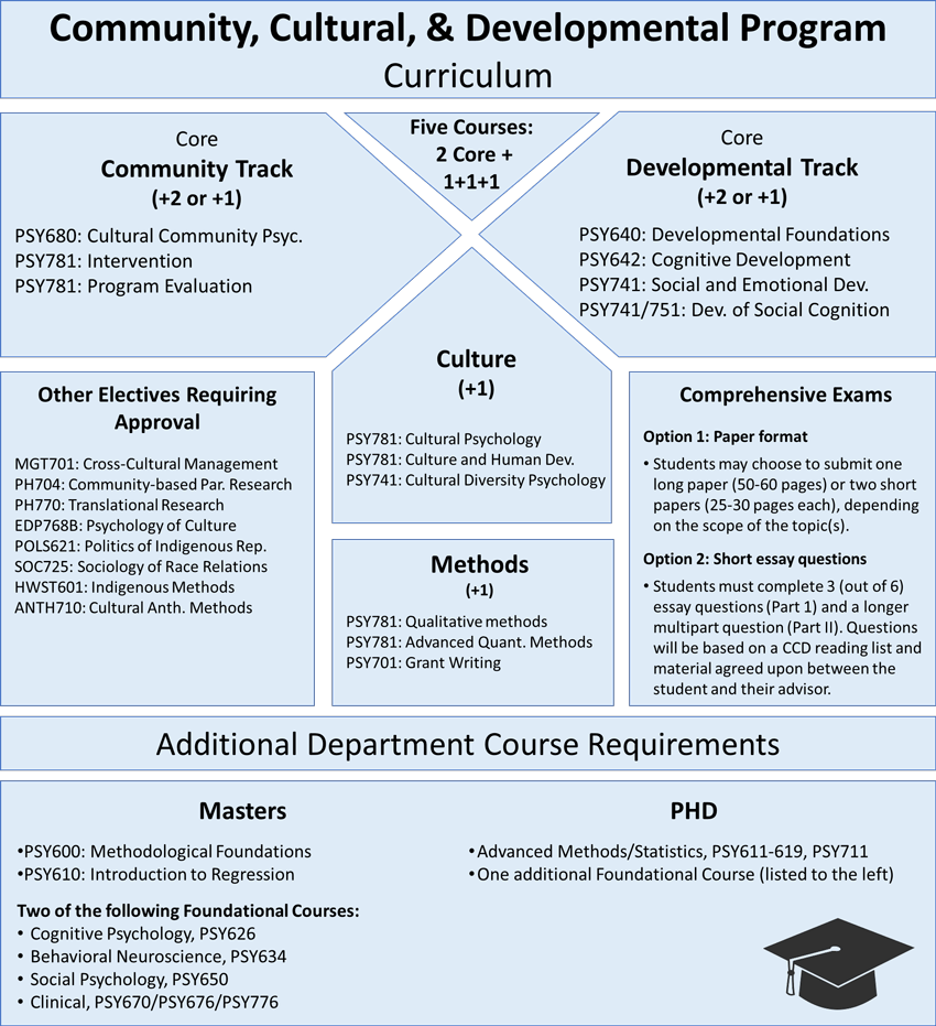 Graphical representation of the CCD curriculum.